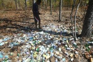 filth dumped on Antelope Island