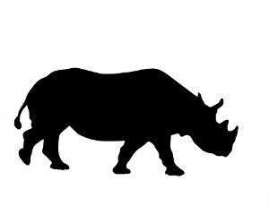 rhino silhouette scaled down