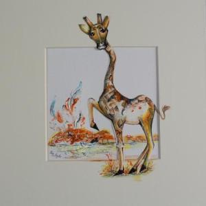 giraffe painting fina